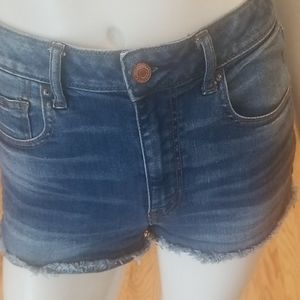 American Eagle Outfitters super highrise shorts